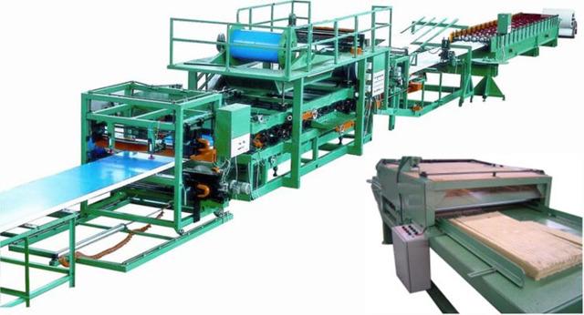 Производство сэндвич-панелей: оборудование (линия), технология
