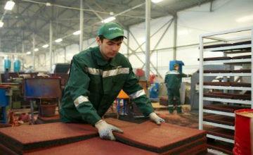 Производство плитки из резиновой крошки: оборудование, технология изготовления